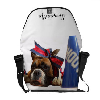 Cheerleader boxer dog courier bags