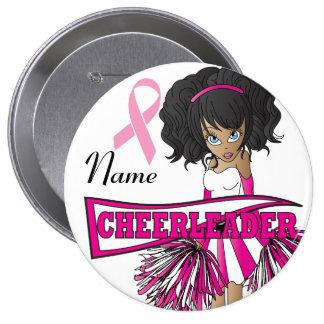 Cheerleader Breast Cancer Support | DIY Name 10 Cm Round Badge