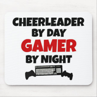 Cheerleader by Day Gamer by Night Mouse Mat