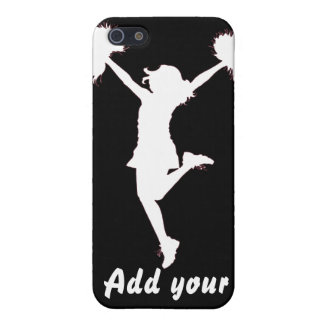 Cheerleader Cheerleading Outline Art by Al Rio iPhone 5 Cases