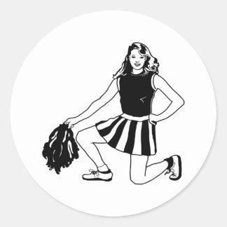 Cheerleader Cheerleading Round Sticker
