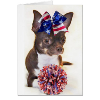 Cheerleader Chihuahua Card