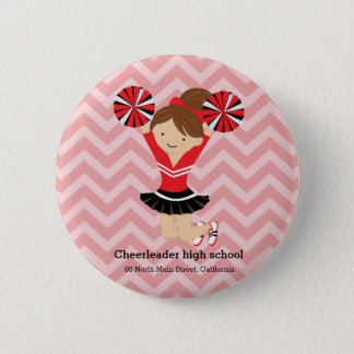 Cheerleader, choose your own background color 6 cm round badge