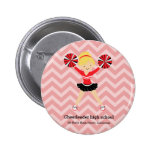 Cheerleader, choose your own background colour 6 cm round badge