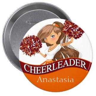 Cheerleader choose your school colors burgundy 10 cm round badge