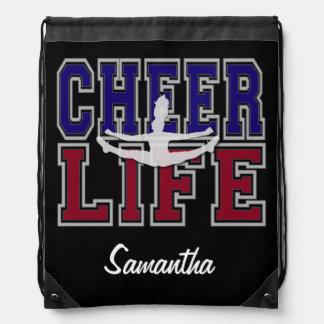Cheerleader cinch sack backpack