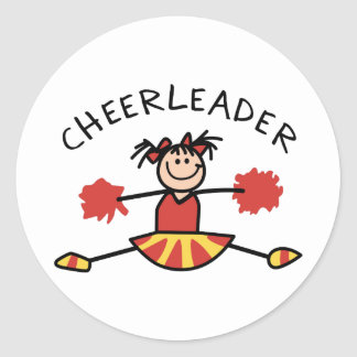 CHEERLEADER CLASSIC ROUND STICKER