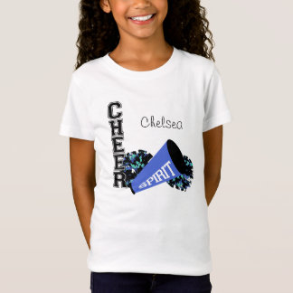Cheerleader Customizable Blue T-Shirt