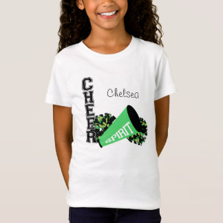 Cheerleader Customizable Green T-Shirt