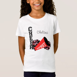 Cheerleader Customizable Red T-Shirt