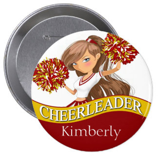 Cheerleader DIY choose your school colors | gold 10 Cm Round Badge