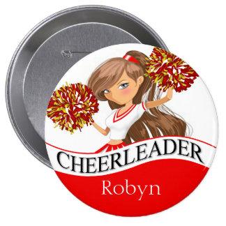 Cheerleader DIY choose your school colors | red 10 Cm Round Badge