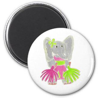 Cheerleader Elephant 6 Cm Round Magnet