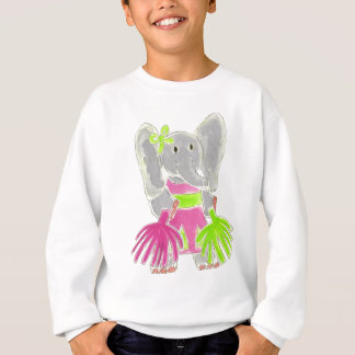 Cheerleader Elephant Sweatshirt