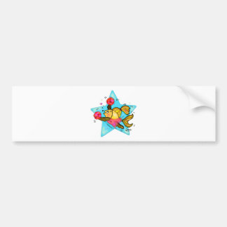 Cheerleader Fish cute funny sparky comics Cheer Bumper Sticker