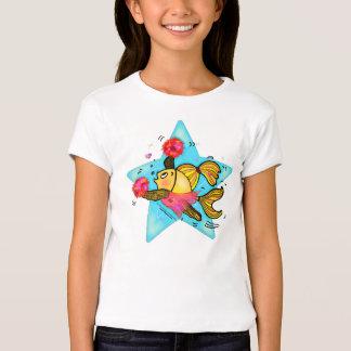 Cheerleader Fish cute funny sparky comics Cheer T Shirt