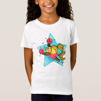 Cheerleader Fish cute funny sparky comics Cheer T-Shirt