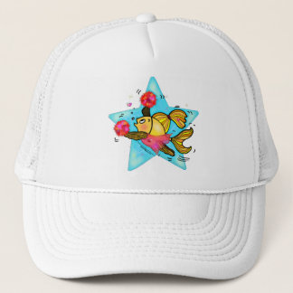 Cheerleader Fish cute funny sparky comics Cheer Trucker Hat