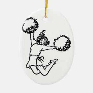 Cheerleader Girl Christmas Ornament