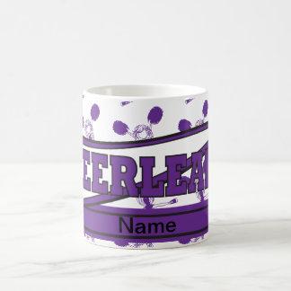 Cheerleader Girl in Purple | Personalize Basic White Mug