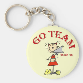 Cheerleader Go Team Tshirts and Gifts Basic Round Button Key Ring