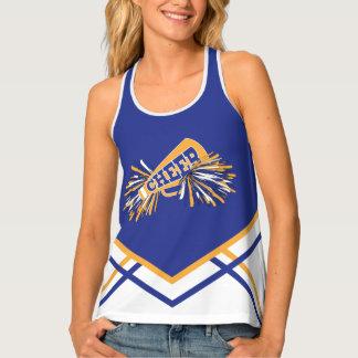 Cheerleader - Gold, White & Blue Tank Top