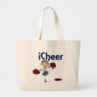 Cheerleader I Cheer Stick Figure Tote Bag