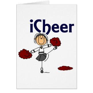 Cheerleader I Cheer Stick Figure Cards