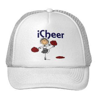 Cheerleader I Cheer Stick Figure Hats