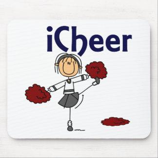Cheerleader I Cheer Stick Figure Mouse Mat