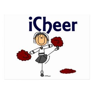 Cheerleader I Cheer Stick Figure Post Card