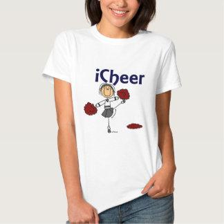 Cheerleader I Cheer Stick Figure Tshirts