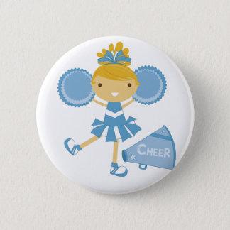 Cheerleader in Blue 6 Cm Round Badge