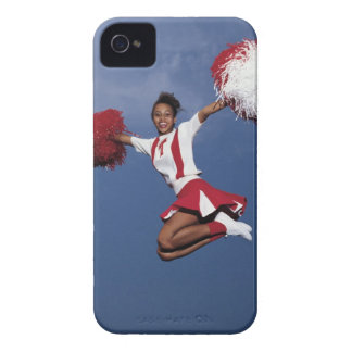 Cheerleader in mid-air Case-Mate iPhone 4 cases