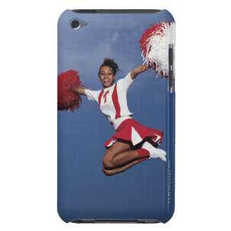 Cheerleader in mid-air Case-Mate iPod touch case