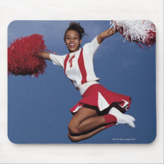 Cheerleader in mid-air mouse pads