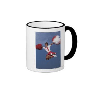 Cheerleader in mid-air ringer mug