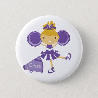Cheerleader in Purple 6 Cm Round Badge