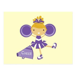 Cheerleader in Purple Postcards