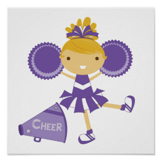 Cheerleader in Purple Poster