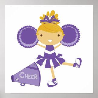 Cheerleader in Purple Poster