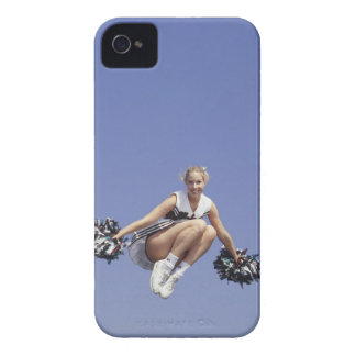 Cheerleader jumping, low angle view, portrait Case-Mate iPhone 4 case