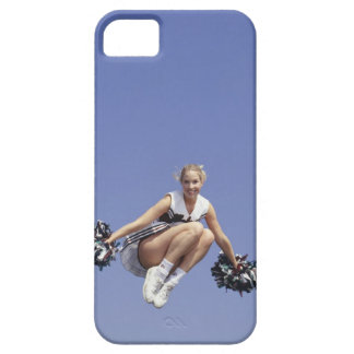Cheerleader jumping, low angle view, portrait iPhone 5 covers