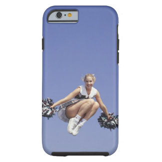 Cheerleader jumping, low angle view, portrait tough iPhone 6 case