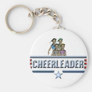 Cheerleader Logo Key Ring