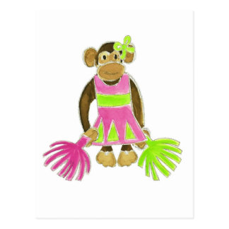 Cheerleader Monkey Post Card