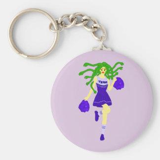 cheerleader monster key ring