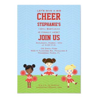 Cheerleader Party Card