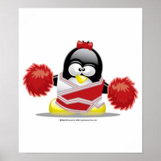 Cheerleader Penguin Poster