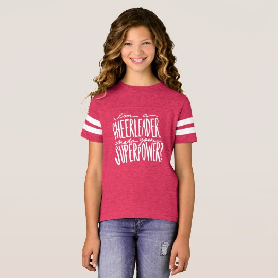 Cheerleader Quote T-shirt for Girls